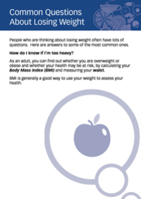 Common Questions About Losing Weight