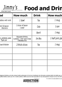 food and drink diary pads nutrition and diet resources