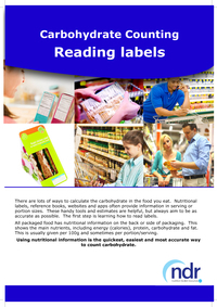 Carbohydrate Counting - Reading Labels