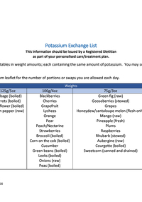 Potassium Exchange List