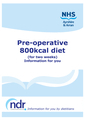 Pre-operative 800kcal Diet