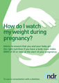 How Do I Watch My Weight During Pregnancy? (Dietitian only version)