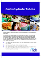 Carbohydrate Tables